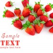 Group of a ripe strawberry — Stock Photo
