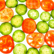 Royalty-Free Stock Photo: Tomatoes and cucumber