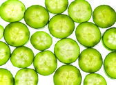 Juicy rings of a cucumber — Stock Photo