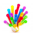 Multi-coloured drinking straws — Stock Photo