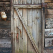 Old decayed wooden door — Stock Photo