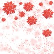 Royalty-Free Stock Photo: Gentle red snowflakes