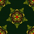 Seamless background in the form of vegetable ornament - Imagens vectoriais em stock