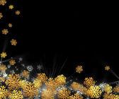 Weihnachten hintergrund - gold schneeflocken auf eine schwarze — Stockfoto