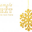 Celebratory background with large gold snowflake — Stock Photo