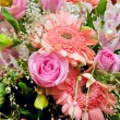Huge bouquet of various pink flowers - Stock Photo