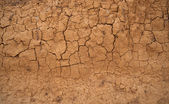 Background in the form of the cracked clay wall — Stock Photo