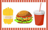 Set of fast food — Stock Vector