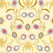 Seamless pattern with elegant flowers - Image vectorielle
