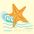 Starfish. Summer card. — Stock Vector #2874638