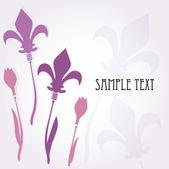 Fundo floral abstrato. — Vetor de Stock