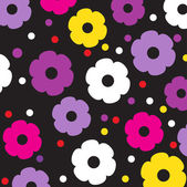 Floral background in retro style — Stockvektor