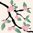 Cherry tree Sakura flowers banners. Vector. — Vettoriali Stock