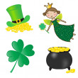 Stock Vector: St. Patrick icons set.