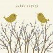 Willow branch. Easter card. - Stock Vector