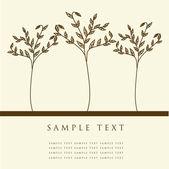 Abstract trees. Vector retro card. — Stock Vector