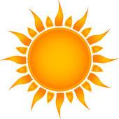 Icona del sole. vector — Vettoriale Stock
