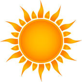 Sun icon. Vector — Vettoriale Stock