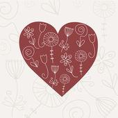 Heart card. Vector. — Stock Vector