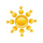 Sun icon. Vector — Stock Vector