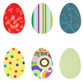 Set Retro easter card. Vector illustration. — Stock Vector
