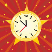 Golden clock. Vector. — Stock Vector