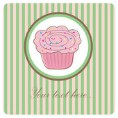 Cupcake. — Stock Vector