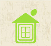 Ecology green house vector illustration. — Stok Vektör