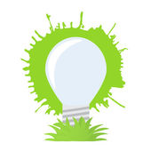 Ecology green bulb. — Stock Vector