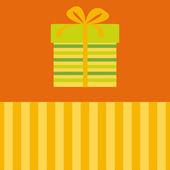 Caja con arco. tarjeta de vector. — Vector de stock