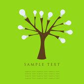 Abstract tree. Retro card. — Stock Vector