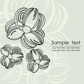 Vintage floral card with place for text. Vector. — ストックベクタ