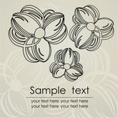 Vintage floral card with place for text. Vector. — Vecteur