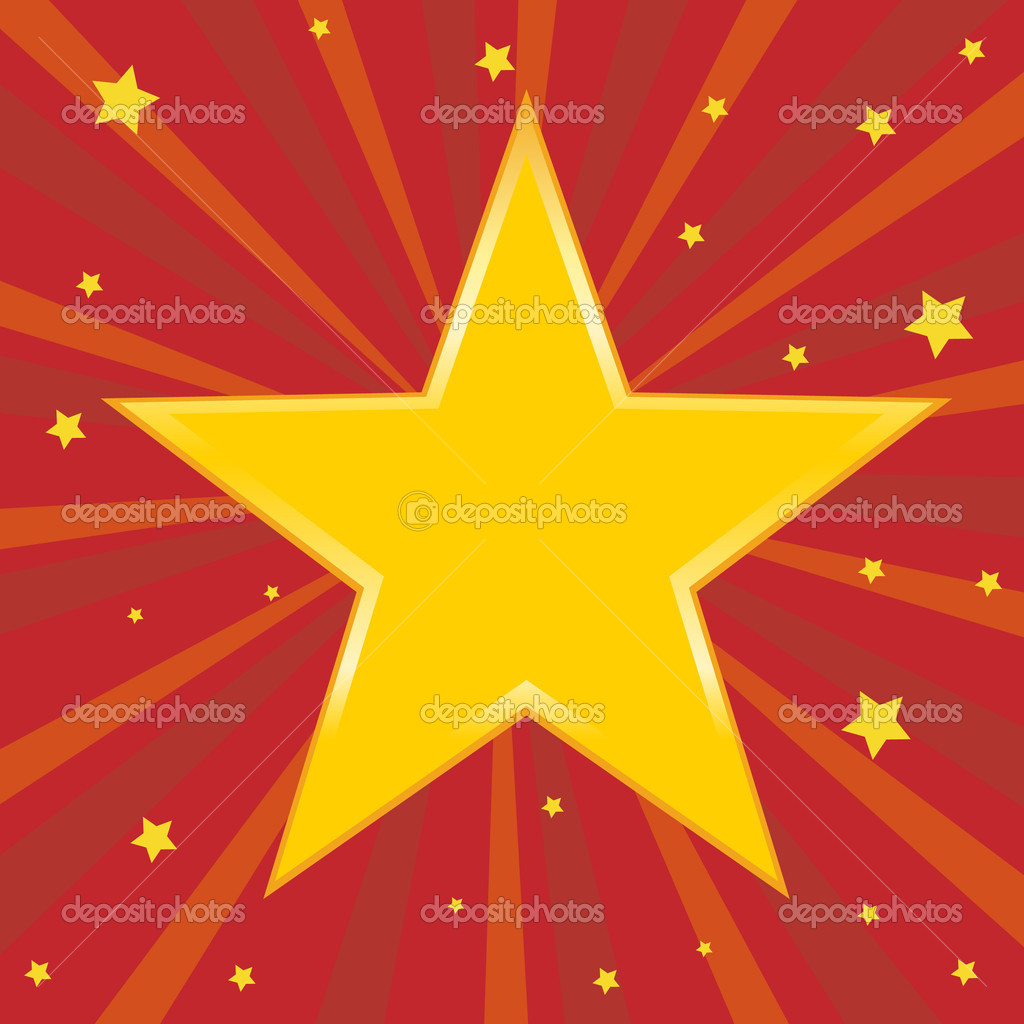Golden star. Vector illustration.   Stock Vector #3842112