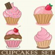 Stok Vektör: Cupcake. Vector illustration