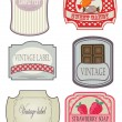 Stock Vector: Vintage labels set. Vector format