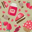Royalty-Free Stock Vector Image: Sweets. Seamless retro background