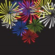 Stock Vector: Fireworks. Vector background