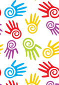 Joyful hands design. — Stock Vector