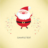 Santa Claus. Vector illustration for retro card — Stock Vector