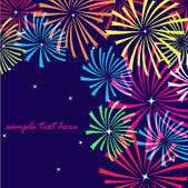 Fireworks. Vector background — Stock Vector