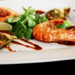 Prawns on the plate — Foto Stock