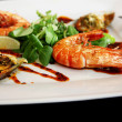 Prawns on the plate - Foto Stock