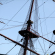 Fragment of sailing vessel - Foto Stock
