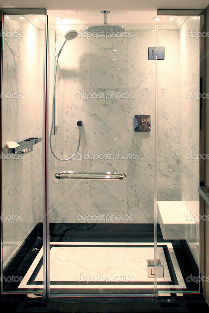 Shower cabine in hotel room  Stock Photo #3571446