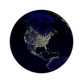 Earth Globe Lights — Stock Photo