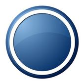 Blue Button — Stock Photo