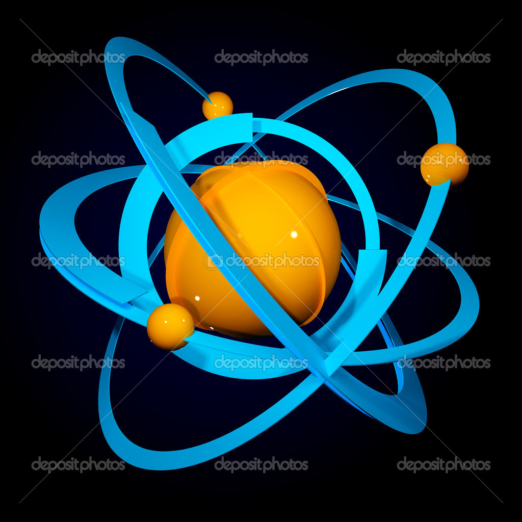 Abstract model of the atom  — Stock Photo #3631081