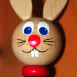 Wooden rabbit doll  — Stock Photo