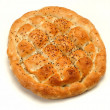 Bread like a pizza at the ramadan — Stock Photo